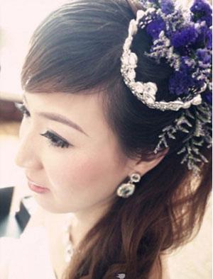 5款柔美中式新娘盘发推荐