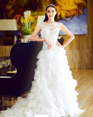 欧式主婚纱皇冠造型