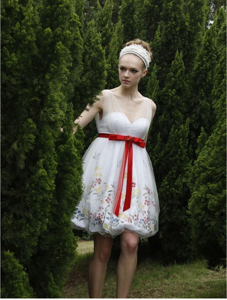 欧式伴娘短款小礼服
