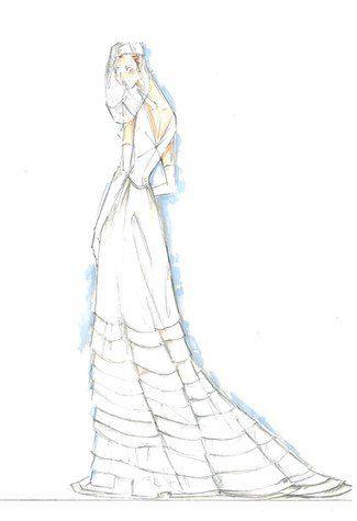 婚纱手稿 教你如何选嫁衣